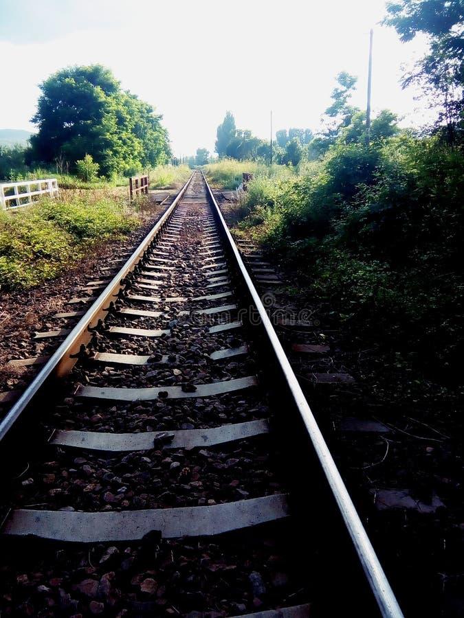 En el ferrocarril 1 foto de archivo libre de regalías