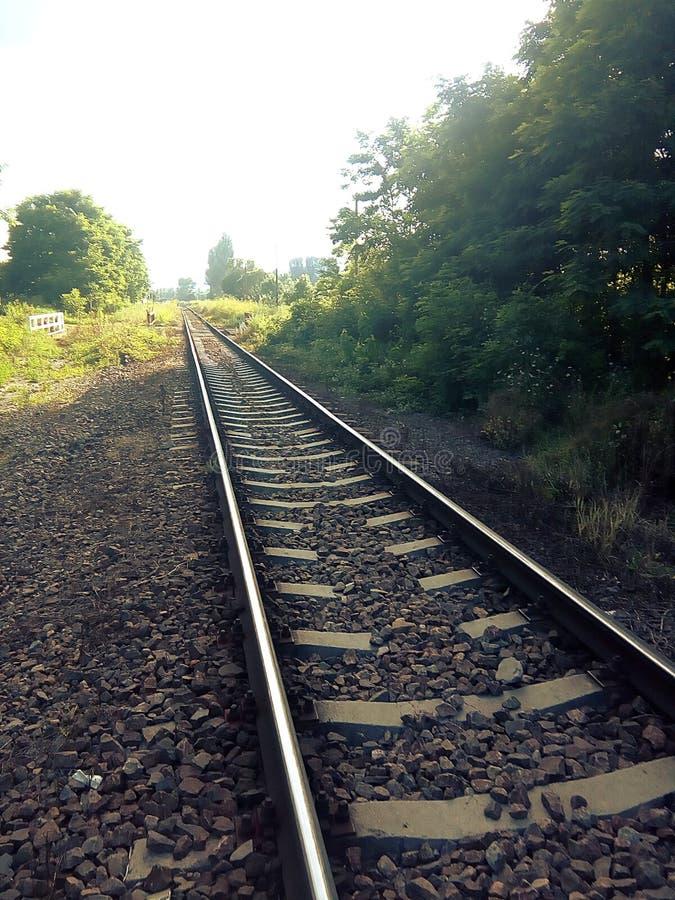 En el ferrocarril 2 fotos de archivo libres de regalías