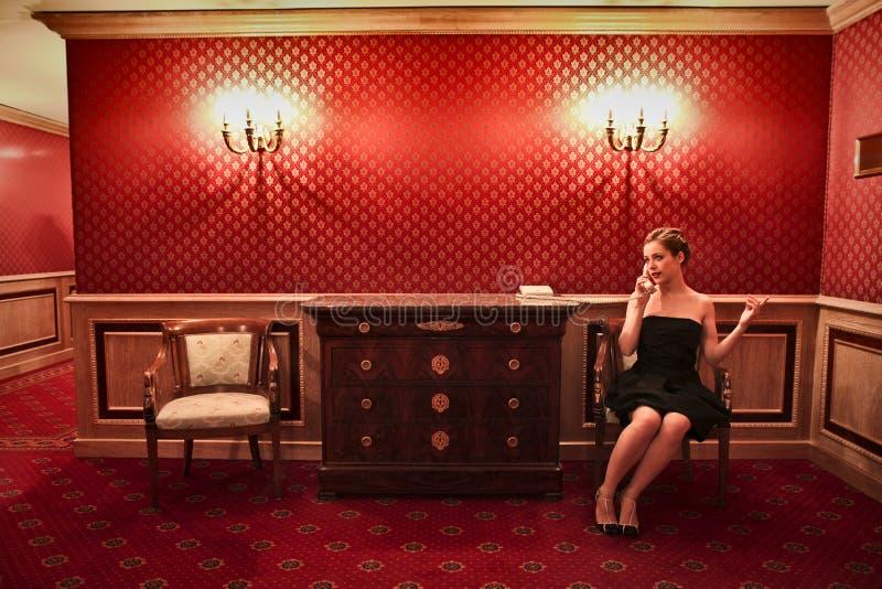 En el hotel foto de archivo