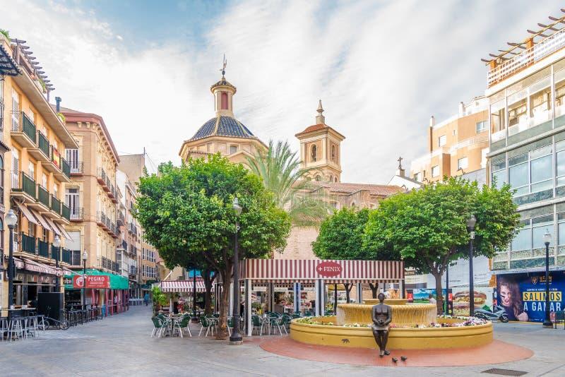 En el lugar de flores en Murcia - España imagen de archivo