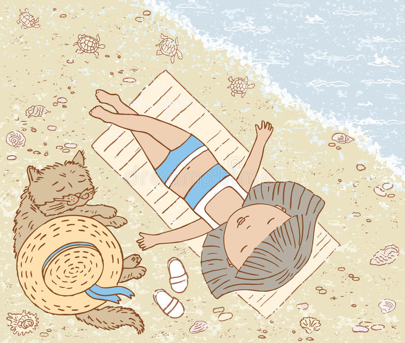 En el mar libre illustration