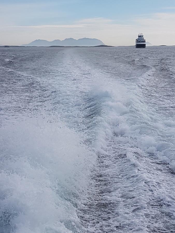 En el mar fotografía de archivo
