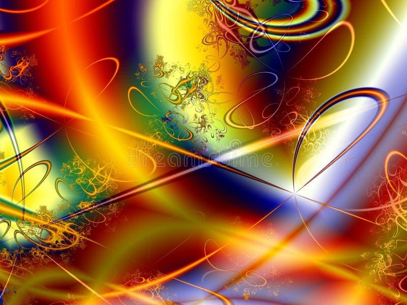 En el nivel subatómico ilustración del vector