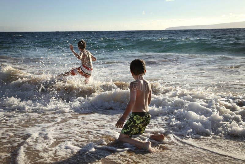 En el océano fotografía de archivo libre de regalías