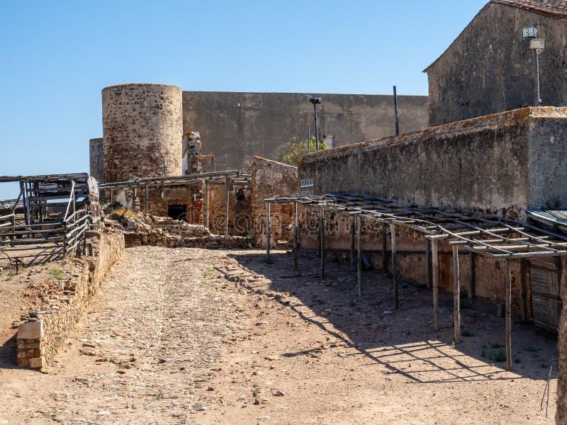 En el OS Castro Marim del castillo imagen de archivo