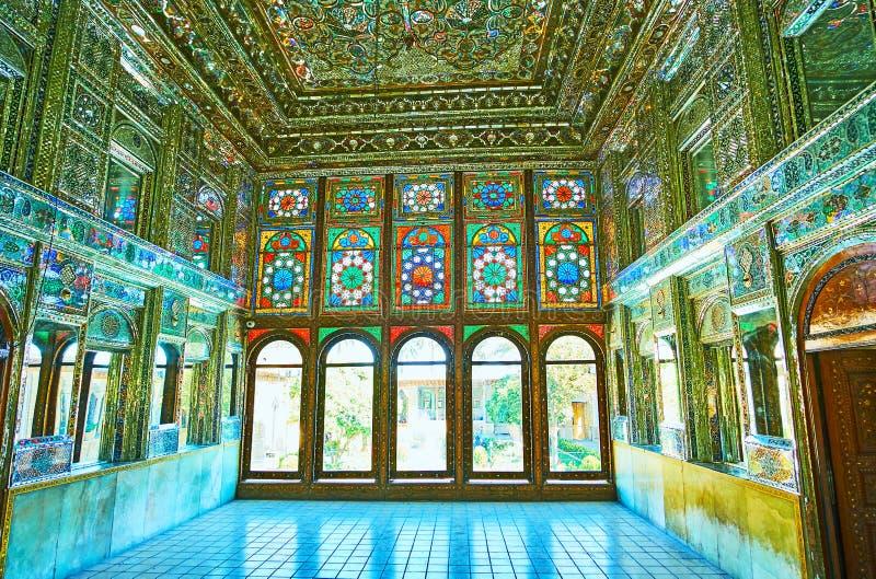 En el palacio espléndido de Shiraz, Irán foto de archivo libre de regalías