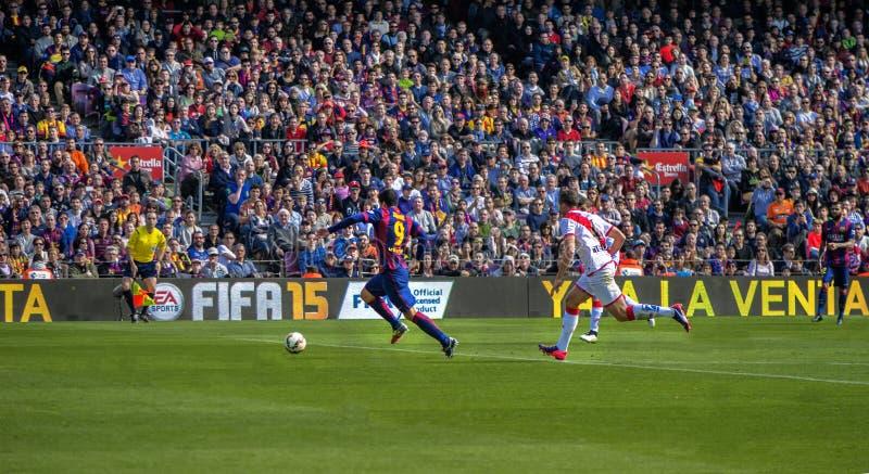 En el partido de fútbol imagen de archivo