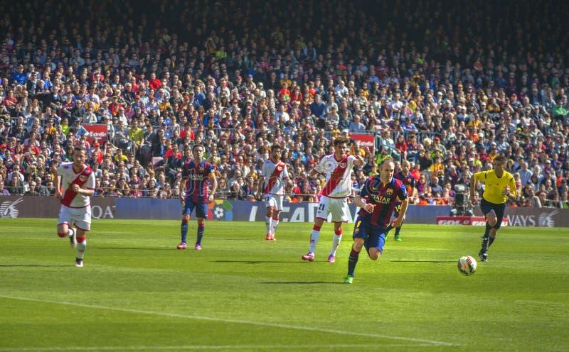 En el partido de fútbol foto de archivo
