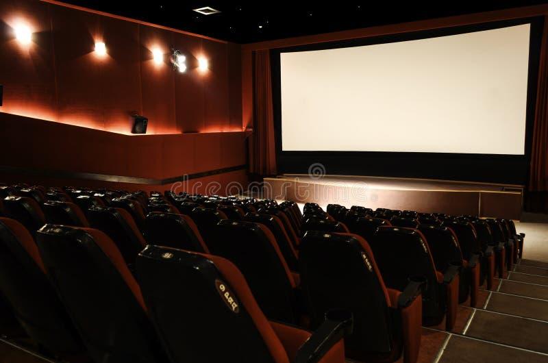 En el pasillo del cine foto de archivo libre de regalías