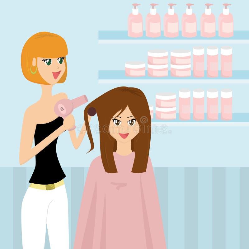 En el peluquero stock de ilustración