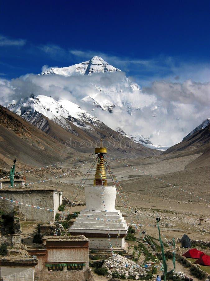 en el pie de Mt.Everest foto de archivo libre de regalías