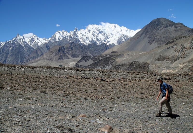En el rastro de Karakorum fotografía de archivo
