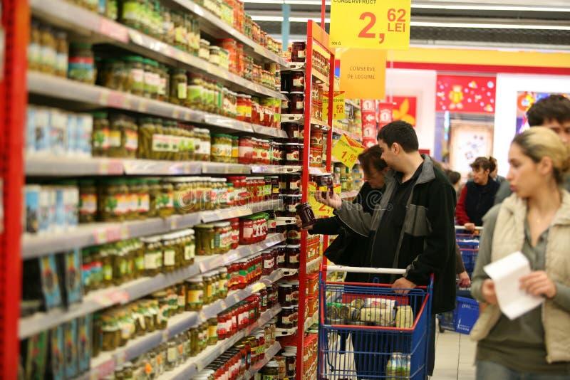 En el supermercado fotografía de archivo libre de regalías