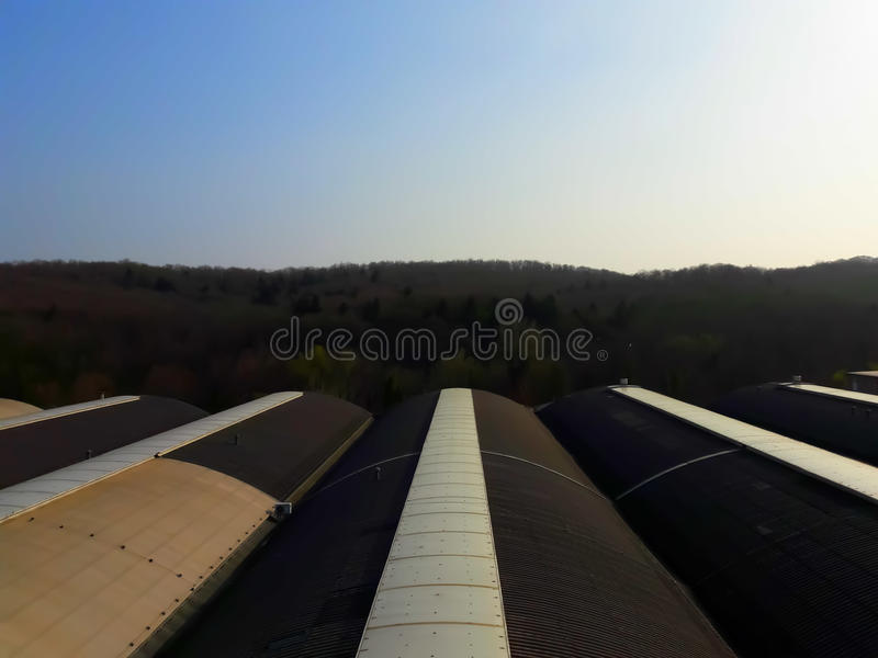 En el tejado imagen de archivo libre de regalías