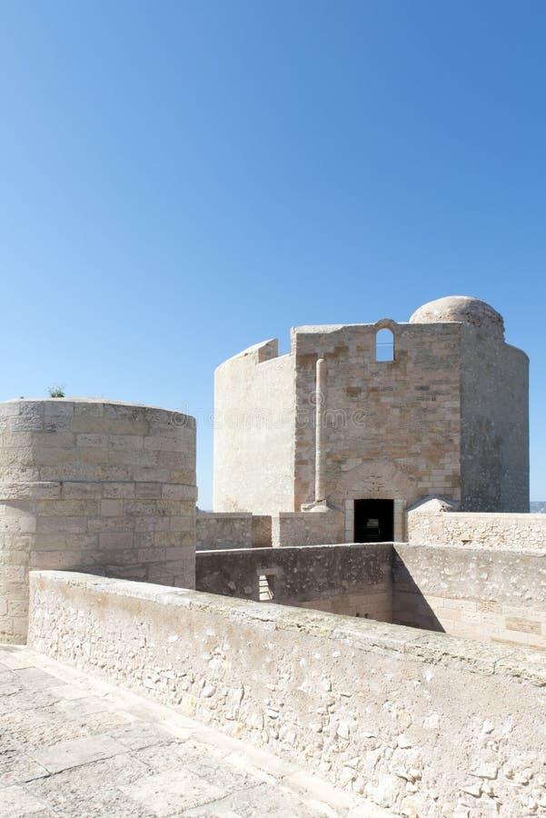 En el tejado del d'If del castillo francés, Marsella, Francia imagenes de archivo