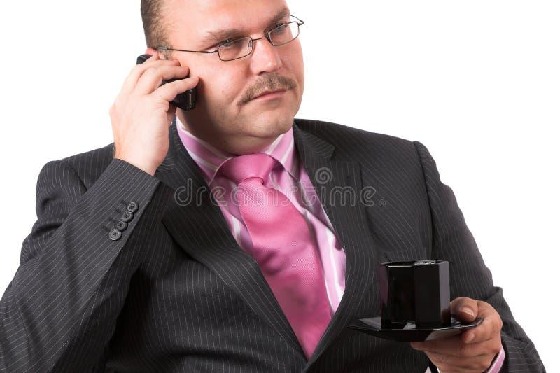 En el teléfono fotografía de archivo