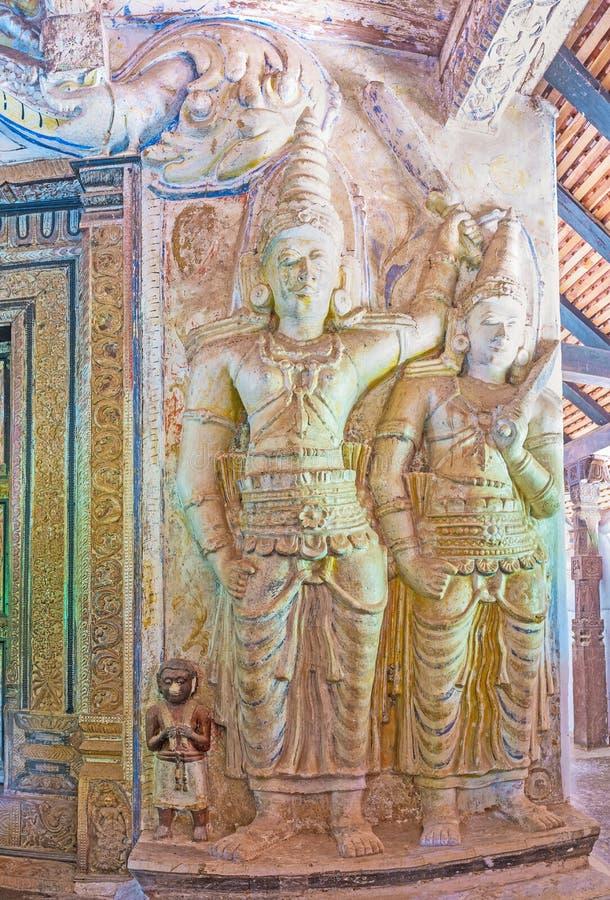 En el templo de Padeniya fotografía de archivo