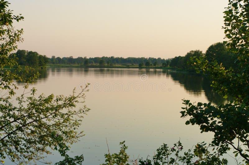 En el terreno de aluvión del río de Klyazma imagen de archivo