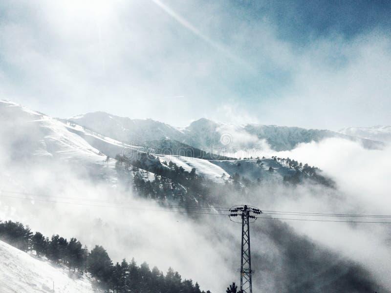 En el vacío nevoso imagen de archivo libre de regalías