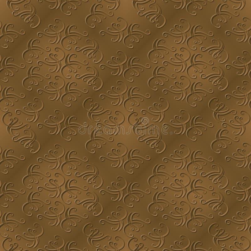 Elegant Sepia mönstrar med skevmallen royaltyfri illustrationer