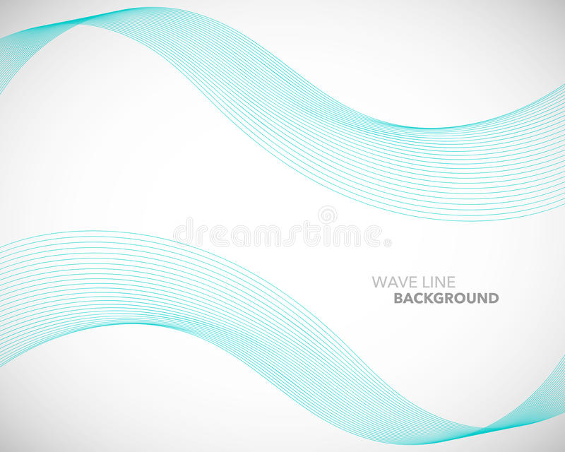 En elegant abstrakt vektorvåglinje futuristisk stilbakgrundsmall stock illustrationer