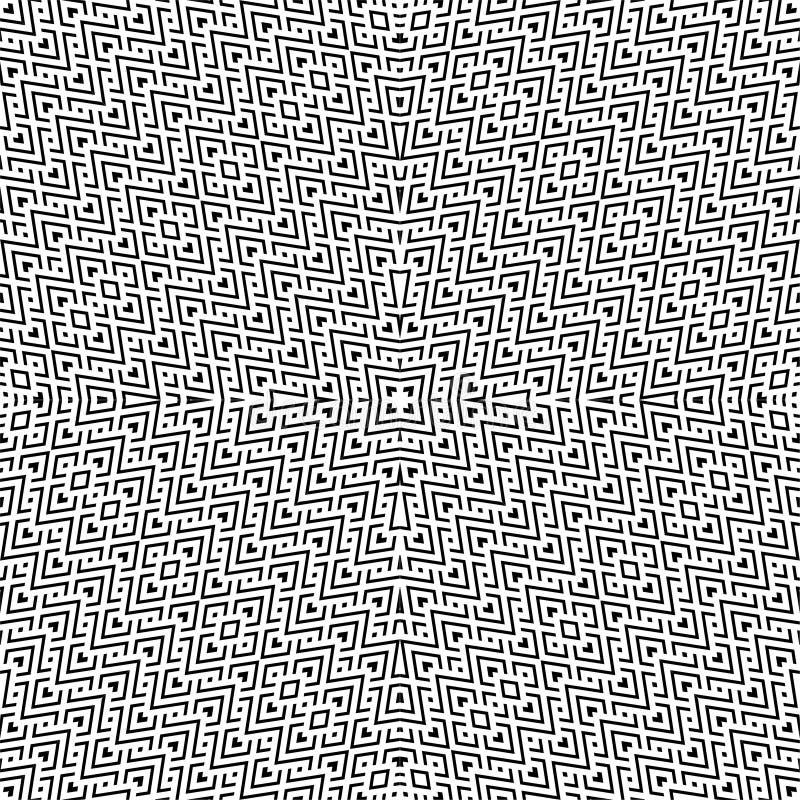 En elegant svartvit vektormodell, geometrisk fyrkantig tegelplatta stock illustrationer