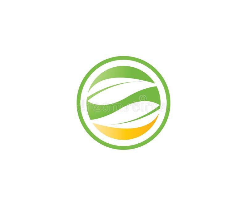 En enkel abstrakt logo av två sidor i en cirkel vektor illustrationer