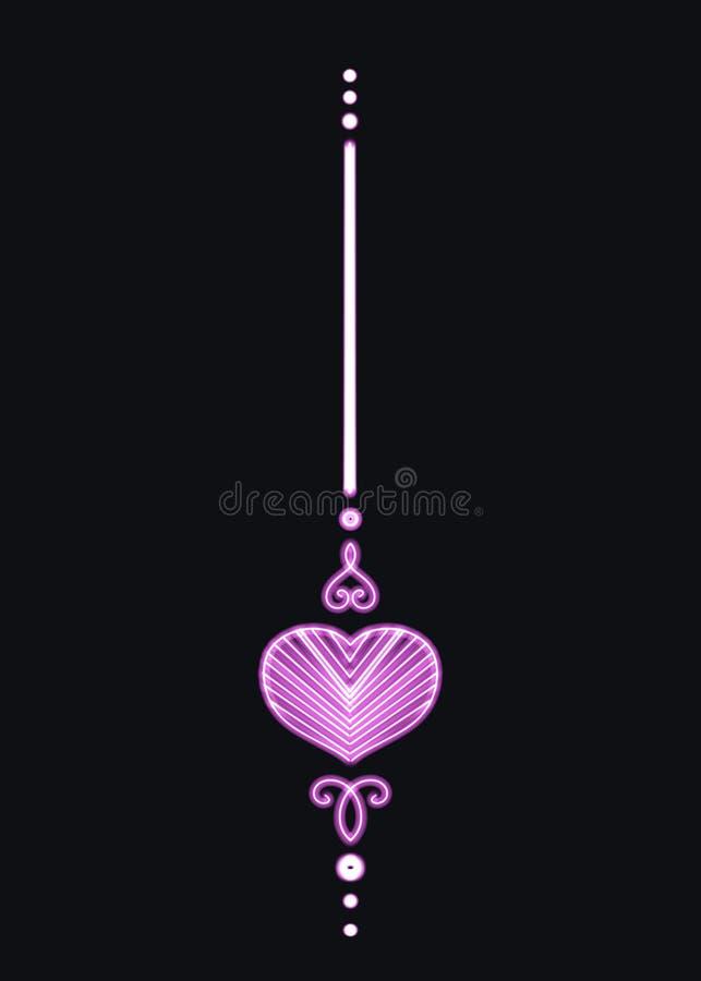 En enkel skinande rosa hänge stock illustrationer