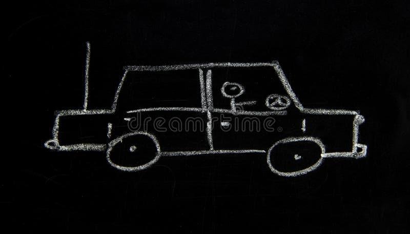 En enkel skiss av en bil arkivbilder
