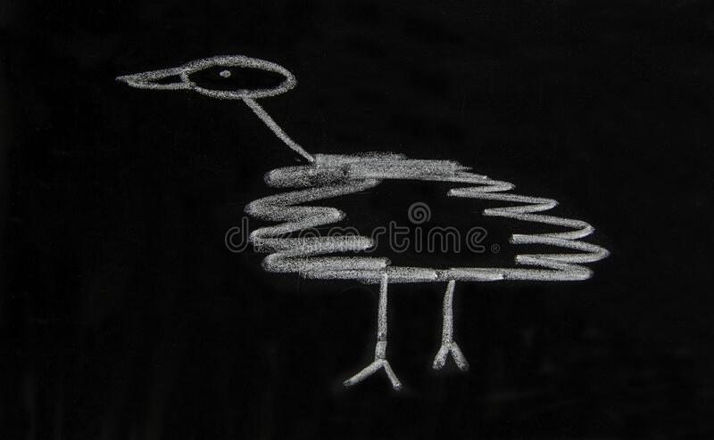 En enkel skiss av en fågel arkivfoto