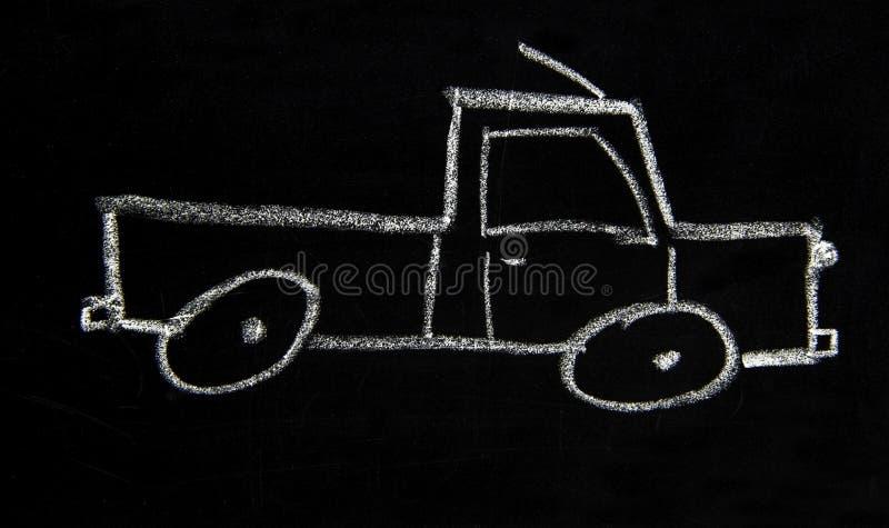 En enkel skiss av en lastbil arkivfoton
