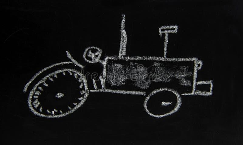 En enkel skiss av en traktor fotografering för bildbyråer