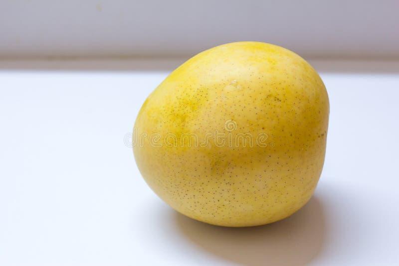 En enorm mango på vit bakgrund royaltyfri bild