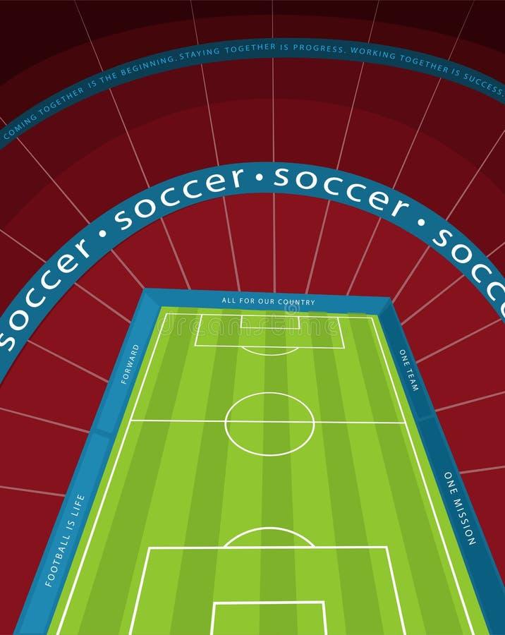 En enorm tom fotbollsarena vektor illustrationer