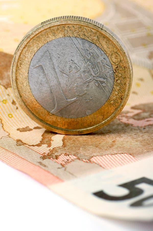 En euro. arkivfoton