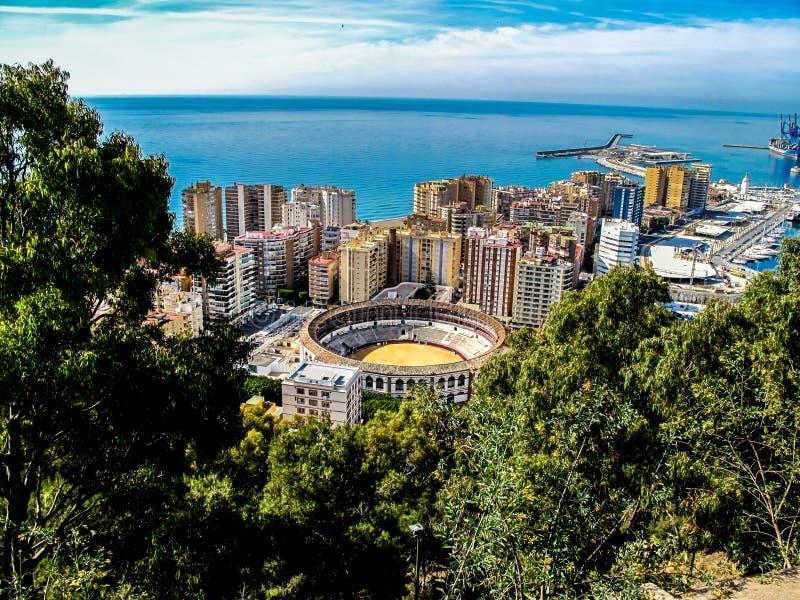 Tjuren ringer Malaga royaltyfria bilder