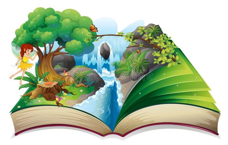 En förtrollad bok royaltyfri illustrationer