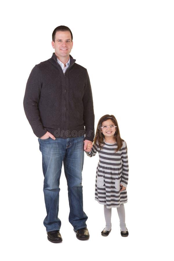 En fader och en dotter arkivfoton