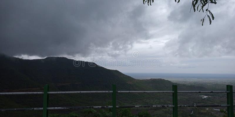 En fantastisk sikt från berget royaltyfria foton