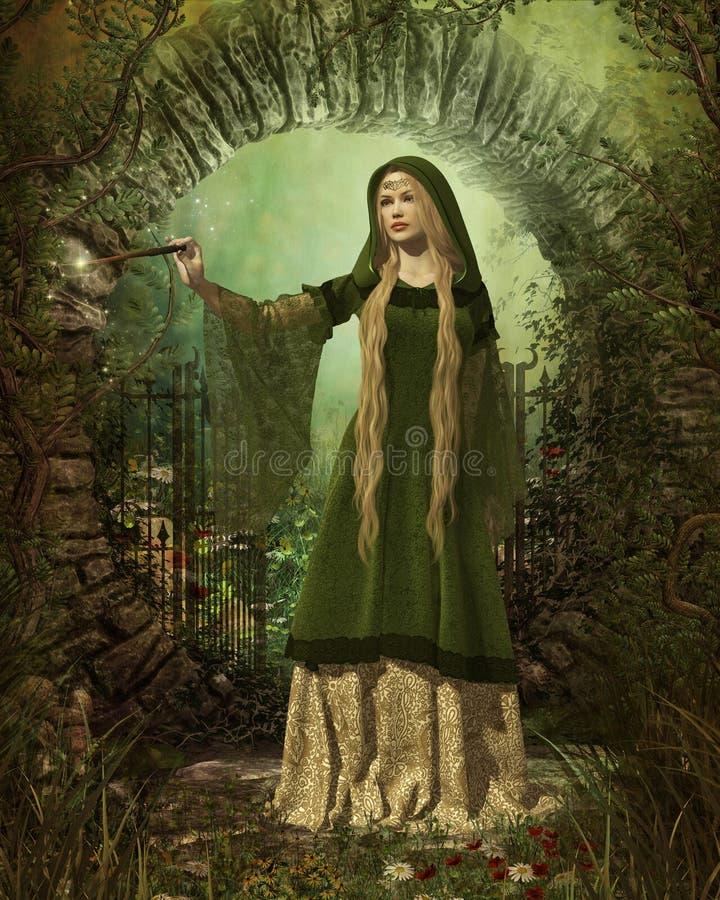 Förmyndare av den hemliga trädgården royaltyfri illustrationer