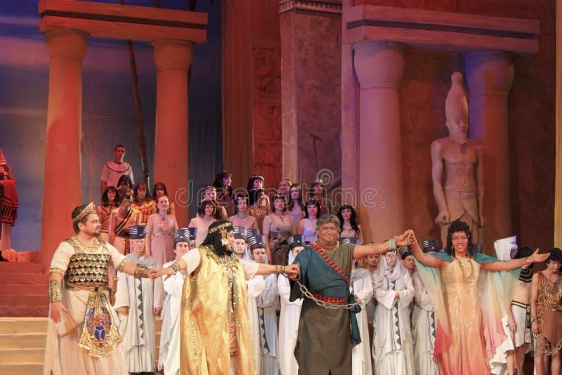 En final av operan Aida royaltyfri foto