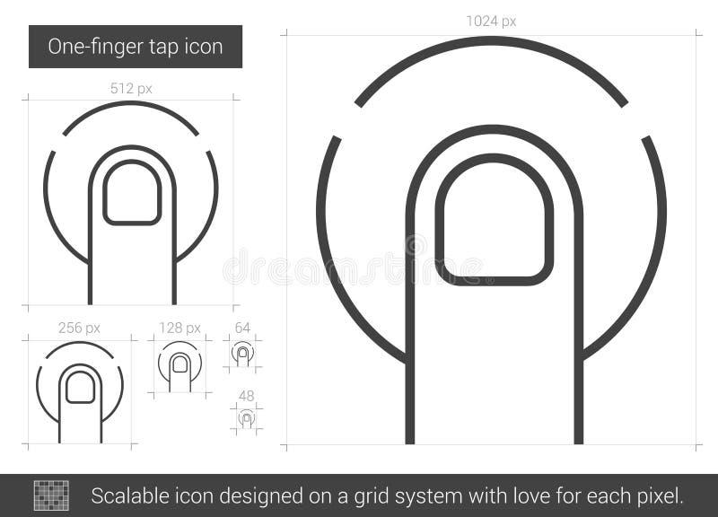 En-finger klapplinje symbol royaltyfri illustrationer