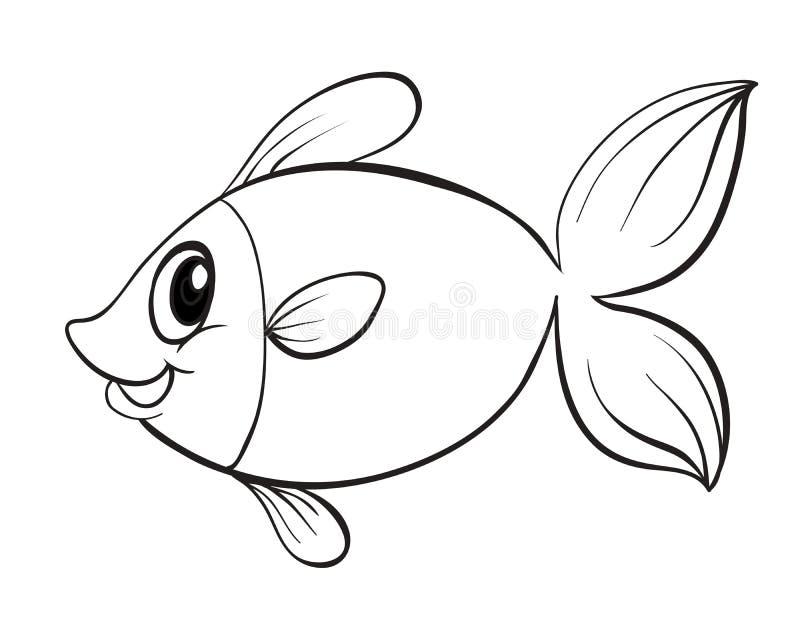 En fisk stock illustrationer