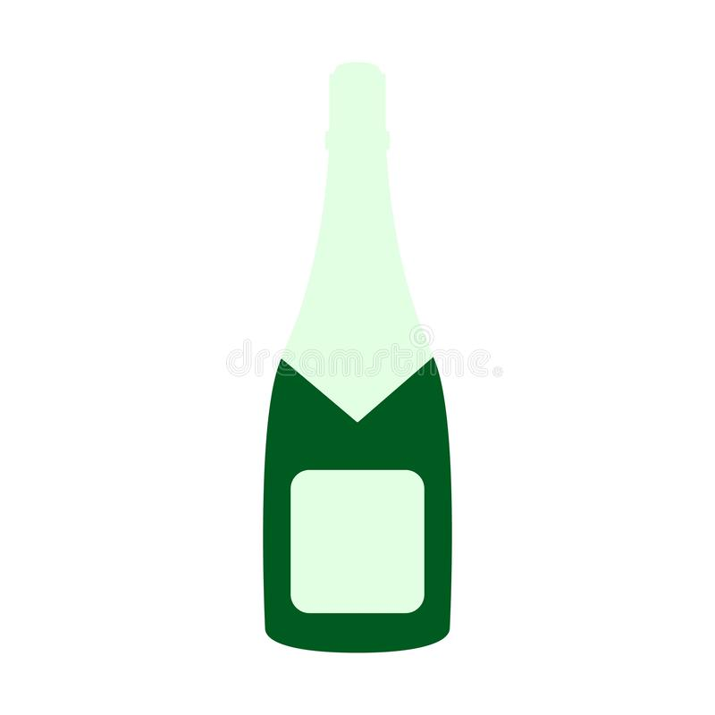 En flaska av det lyckliga nya året för champagnesymbol royaltyfri illustrationer