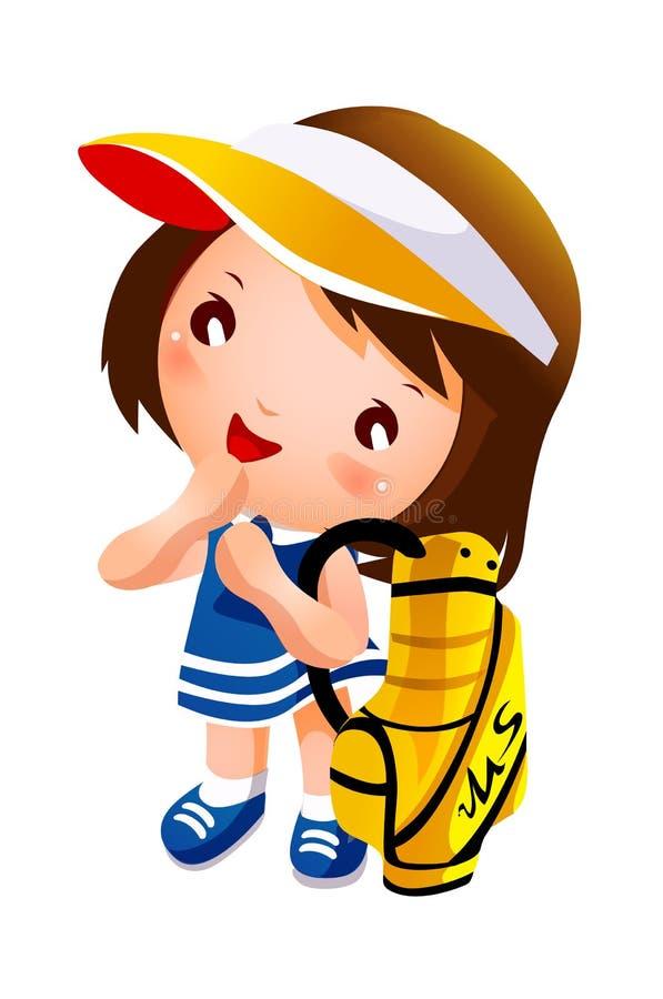 En flicka royaltyfri illustrationer