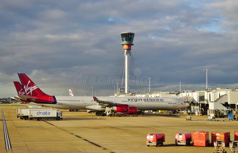 En flygbuss A330 från det brittiska flygbolaget Virgin Atlantic (VS) arkivfoto