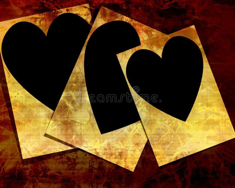 En forma de corazón stock de ilustración