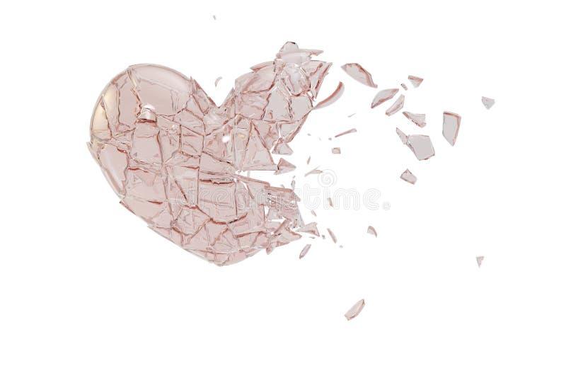 Download En Forme De Coeur En Verre Cassé Illustration Stock - Illustration du jour, émotion: 87705163