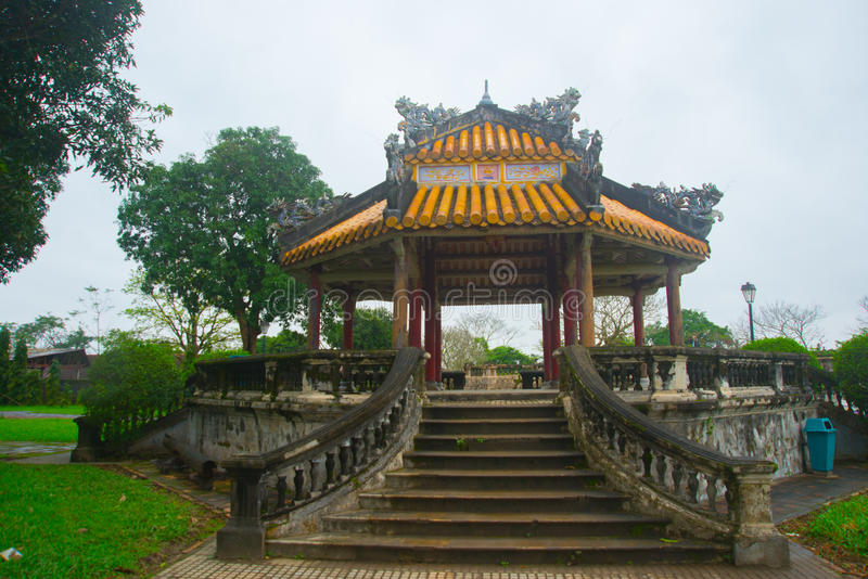 En forntida stad i Vietnam, fästningen i staden i ton royaltyfri foto