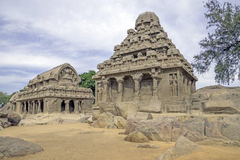 En forntida tempel i Chennai arkivbilder